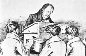 Hegel dando Clase