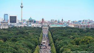 Protestas contra las restricciones por el coronavirus en Berlín.
